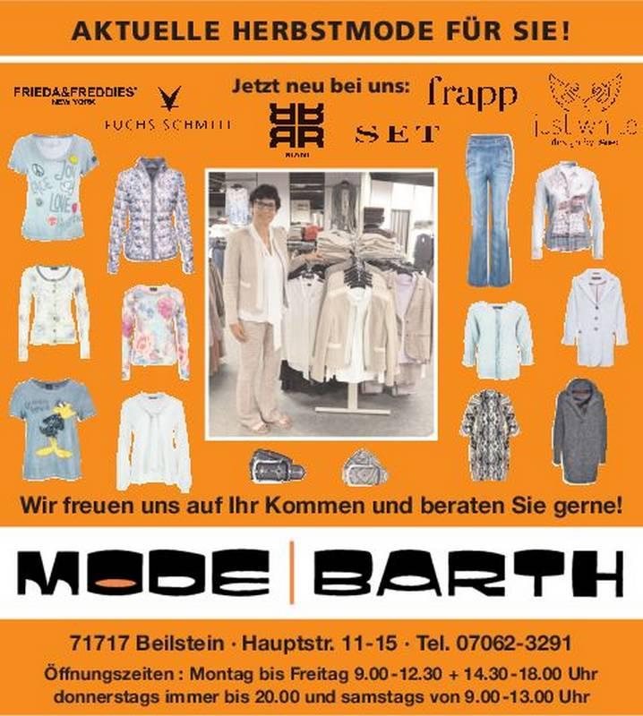 Mode Barth in Beilstein - die Adresse für Mode.