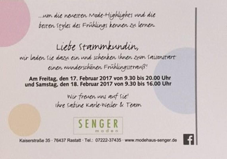 Mode für die Damen - perfekt präsentiert von Modehaus Senger in Rastatt.